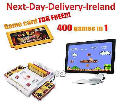 Retro Video TV Classic Game Console 400 Games Play Card Game Consoles Player