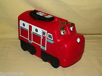 Chuggington Case Travel Carry Storage Used Train Locomotive Red Compartments