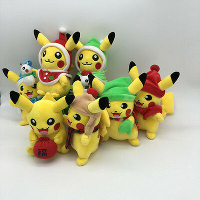 2016 New Set Pokemon Center Stuffed Doll Anime Pikachu Soft Plush Toy Gift