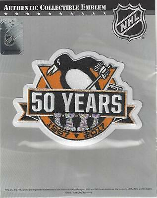 2016 2017 Pittsburgh Penguins 50th Anniversary Jersey Patch 100% Official Emblem