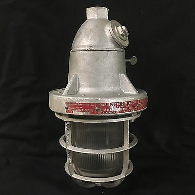 NEW NOS VTG RAB LIGHTING EXPLOSION PROOF LIGHT LAMP FIXTURE steampunk industrial
