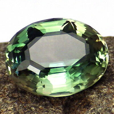 CHROME GREEN-TEAL DICHROIC OREGON SUNSTONE 4.46Ct FLAWLESS-TOP INVESTMENT!!
