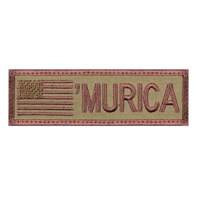 """Rothco """"Murica"""" Patriotic Embroidered Flag Patch w/Hook Backing, 4"""" X 1 1/8"""""""