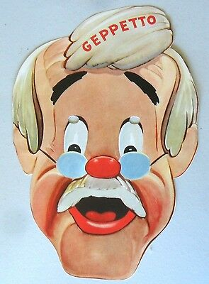 Geppetto from Pinocchio Paper Mask 1939 Gillette Razor Advertising Premium
