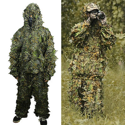 3D Leaf Camouflage Clothing Hunting Bionic Sniper Archery Ghillie Suit Uniform