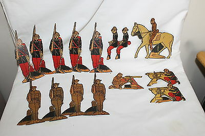 16 Vintage Rare Htf Post Toasties Cardboard Cutouts Soldiers Paper Dolls 1930's
