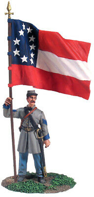 W.Britain B 31132 Confederate Infantry Color Sergeant At Rest  No.1