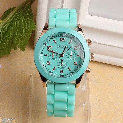 Geneva Men Women Fashion Watch Rubber Quartz Sport Casual Wrist Watches Digital