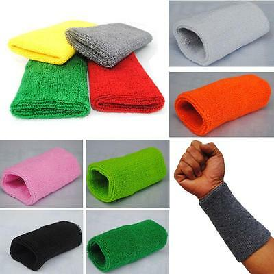 15cm Basketball Gym Unisex Sports Cotton Sweat Band Sweatband Wristband Wrist C