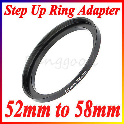 52-58mm 52mm-58mm 52 to 58 Metal Step Up Lens Filter Ring Stepping Adapter