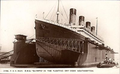White Star Line RMS Olympic Floating Dry-Dock, Southampton # 2148 by FGO Stuart.