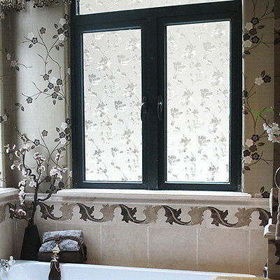 Self Adhesive Frosted Glass Window Door Film Static  Sticker Vinyl Wall Bathroom