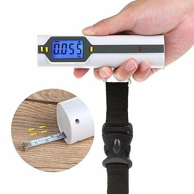 50Kg/10g Portable Hanging Luggage Scale LCD Digital Electronic Weight Wide Hook✿