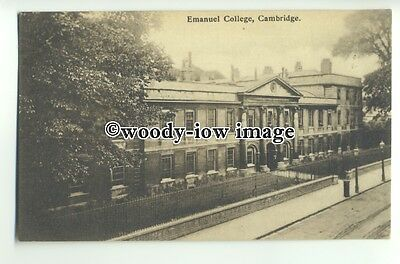 tp9313 - Cambs - Early View of the Emanuel College, Cambridge - postcard