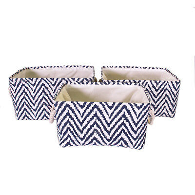 Jia Home 3 Piece Basket Set with Rope Handles
