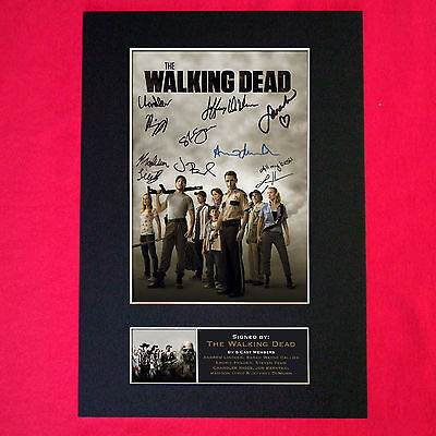 WALKING DEAD Autograph Mounted Signed Photo RE-PRINT Print A4 330