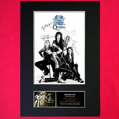 QUEEN Mounted Signed Photo Reproduction Autograph Print A4 327