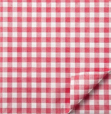 50 Red Gingham Cotton Fibre Luxury Napkins