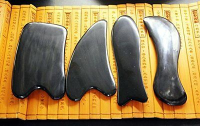 Black Buffalo Horn Massage Tools Set of 4 - Accupunture therapy by Acupress