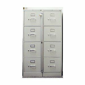 Locking Bar Use w/ 4 Drawer Filing Cabinet  - 16-Gauge Formed Steel by Abus