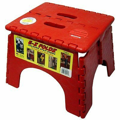 Best Step Stool with Textured Pattern, Durable & Lightweight Plastic - Red
