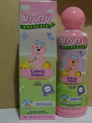 Baby Cologne for Girls 7.4 Oz, w/ Glycerin & Wheat Protein by Arrurru