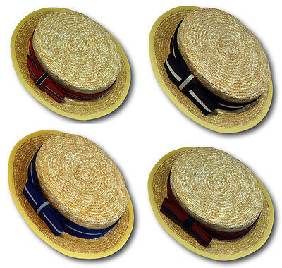 Traditional School Uniform Straw Boater & Hand Made Boater Band - 3 Sizes