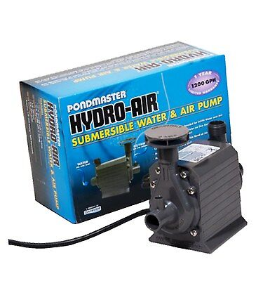 Pondmaster 02795 Hydro-Air 1200 gph Pond Pump w/ Aerator for up to 1000 gal Pond