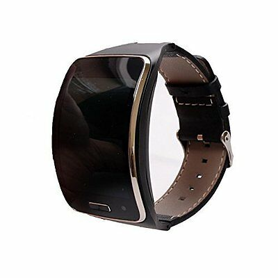 Leather Replacement Wristband For Samsung Galaxy Gear S SM-R750 Smart Watch