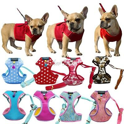 Pet Control Harness Dog Puppy Cat Soft Walk Collar Safety Strap Mesh Leash Vest