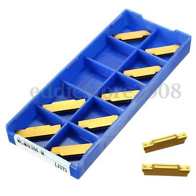 10Pcs MGMN300-M 3mm Carbide Inserts For MGEHR or MGIVR Grooving Cut-Off Tool