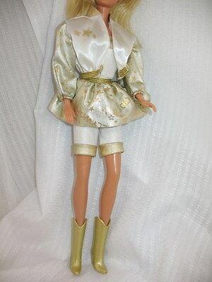 Vintage Hollywood Hair Barbie Outfit ONLY Romper Jacket Skirt & Boots ~64E6