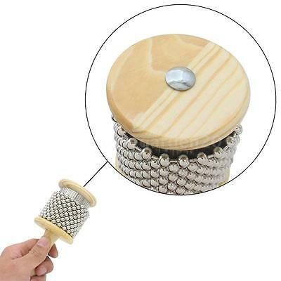 Wood Wooden Cabasa Band Pop Hand Shaker for Kids High Quality Small Size C5Q3