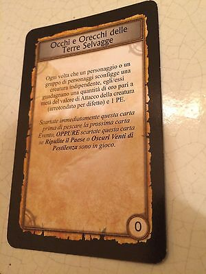 World Of Warcraft/wow Occhi Orecchie Terre Selvagge Boardgame Cards