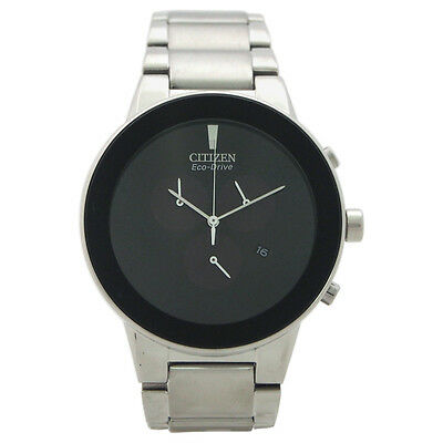 AT2240-51E Chronograph Axiom Eco-Drive Stainless Steel Bracelet Watch by Citizen