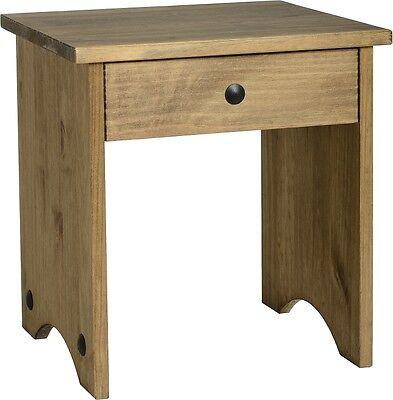 Corona Dressing Table Stool Mexican Solid Distressed Waxed Pine Bedroom/Home