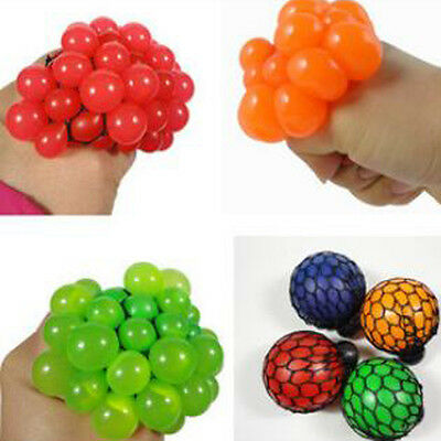 1X Sensory Cute Squishy Mesh Ball Squeeze Abreaction Party Christmas Table Decor