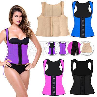 Waist Latex Rubber Vest Trainer Cincher Underbust Corset Body Shaper Shapewear
