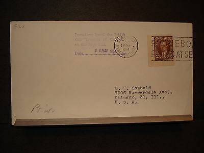 British RMS EMPRESS of CANADA Naval Cover 1961 PAQUEBOT Greenock, Renfrewshire