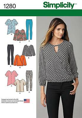 Simplicity SEWING PATTERN 1280 Misses Leggings,Tunic & Top XS-XL