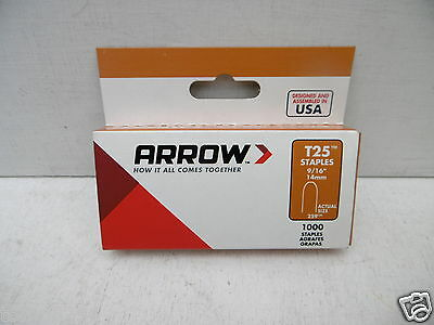 1000 X 14Mm Arrow T25 T-25 Wire And Cable Staples