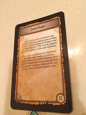 World Of Warcraft/wow Sotterfugio Carta  Boardgame Cards