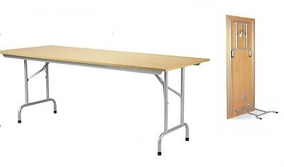 RICO Folding & Stacking Conference Office Meeting Room Table in BEECH 1600mm
