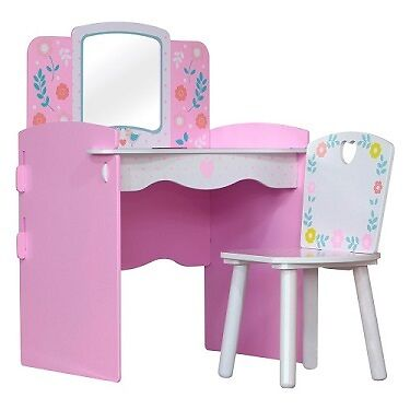 Country cottage flower design kids bedroom furniture Dressing table unit & Chair
