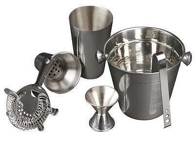 Imperial Home 5 Piece Cocktail Shaker and Bar Accessories Set