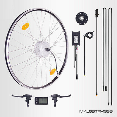 "E-Bike Conversion Kit, 28"" Zoll Umbausatz mit Frontmotor, 36V 250W, LCD-Display"