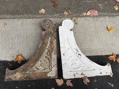 "pAIR late 19th century Victorian corbel brackets w carved detail 18"" X 14"" X 3"""