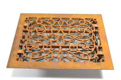 * ANTIQUE TUTTLE & BAILEY N.Y. CAST IRON LOUVERED VENT COVER! 8x10