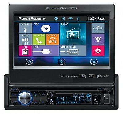 "Power Acoustik PD-724HB 7"" Bluetooth DVD Car Stereo Receiver Android/MobileLink"
