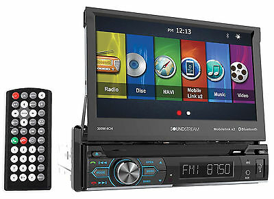 "Soundstream VRN-74HB 7"" Car GPS Navigation DVD Player w/Bluetooth, MobileLink8.2"